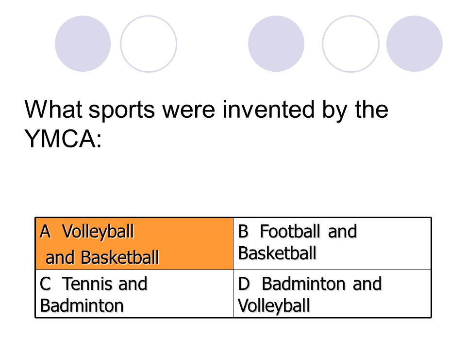 What sports were invented by the YMCA: