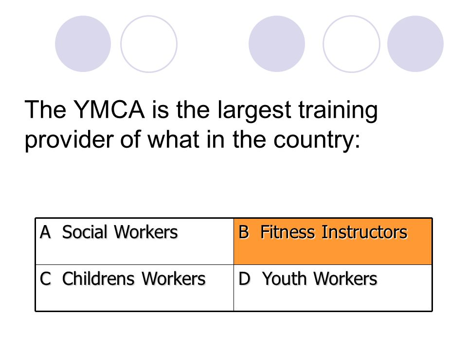 The YMCA is the largest training provider of what in the country: