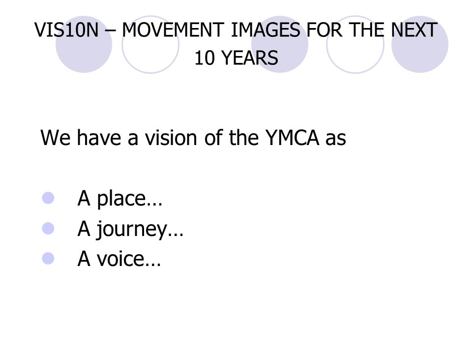 VIS10N – MOVEMENT IMAGES FOR THE NEXT 10 YEARS
