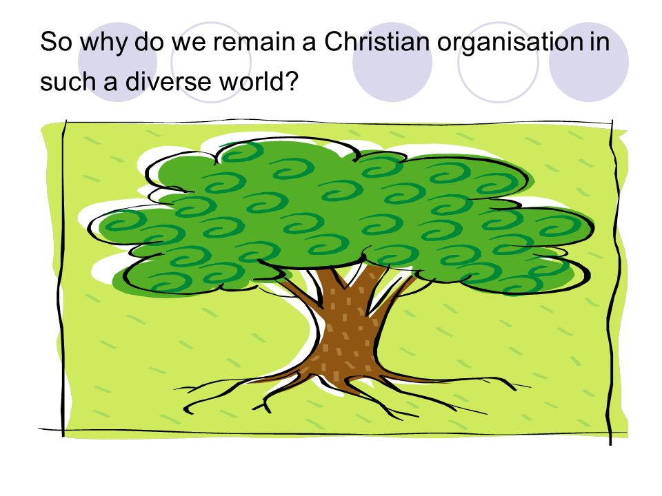 So why do we remain a Christian organisation in such a diverse world