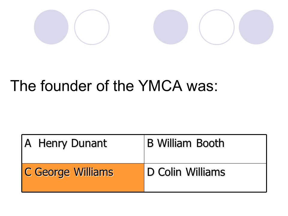 The founder of the YMCA was: