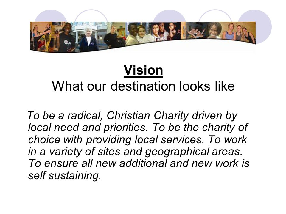 Vision What our destination looks like