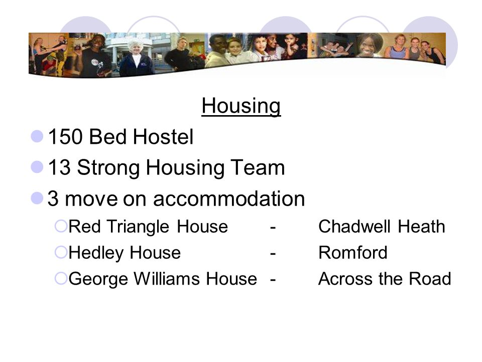 Housing 150 Bed Hostel 13 Strong Housing Team 3 move on accommodation