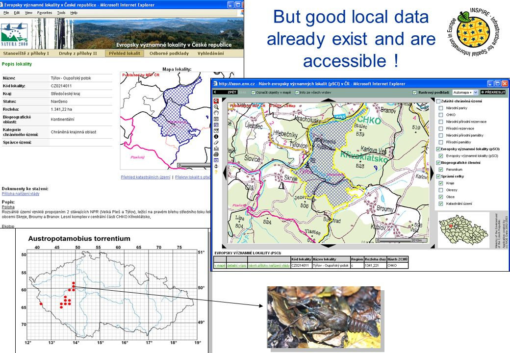 But good local data already exist and are accessible !