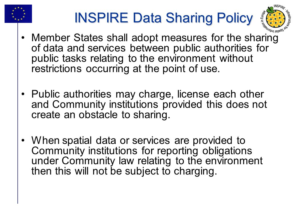 INSPIRE Data Sharing Policy