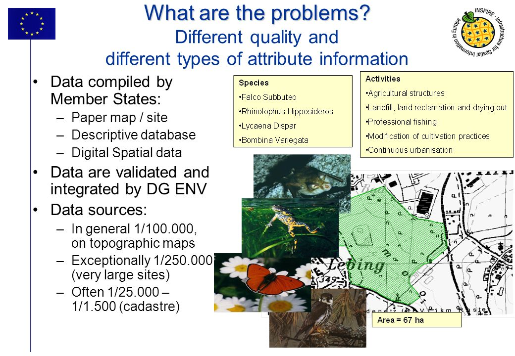 What are the problems Different quality and different types of attribute information
