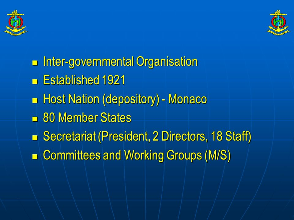 Inter-governmental Organisation