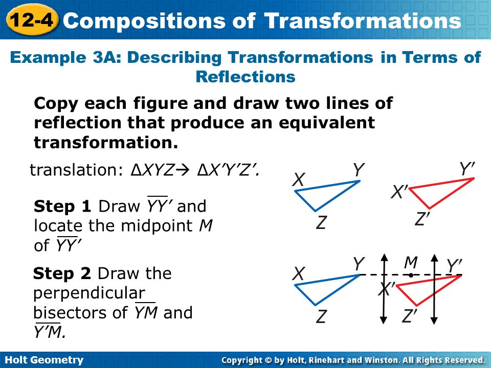Drawing Lines Of Reflection : Compositions of transformations ppt download