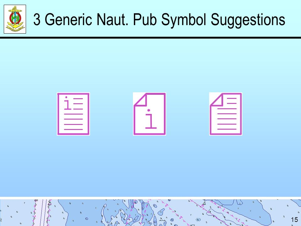 3 Generic Naut. Pub Symbol Suggestions