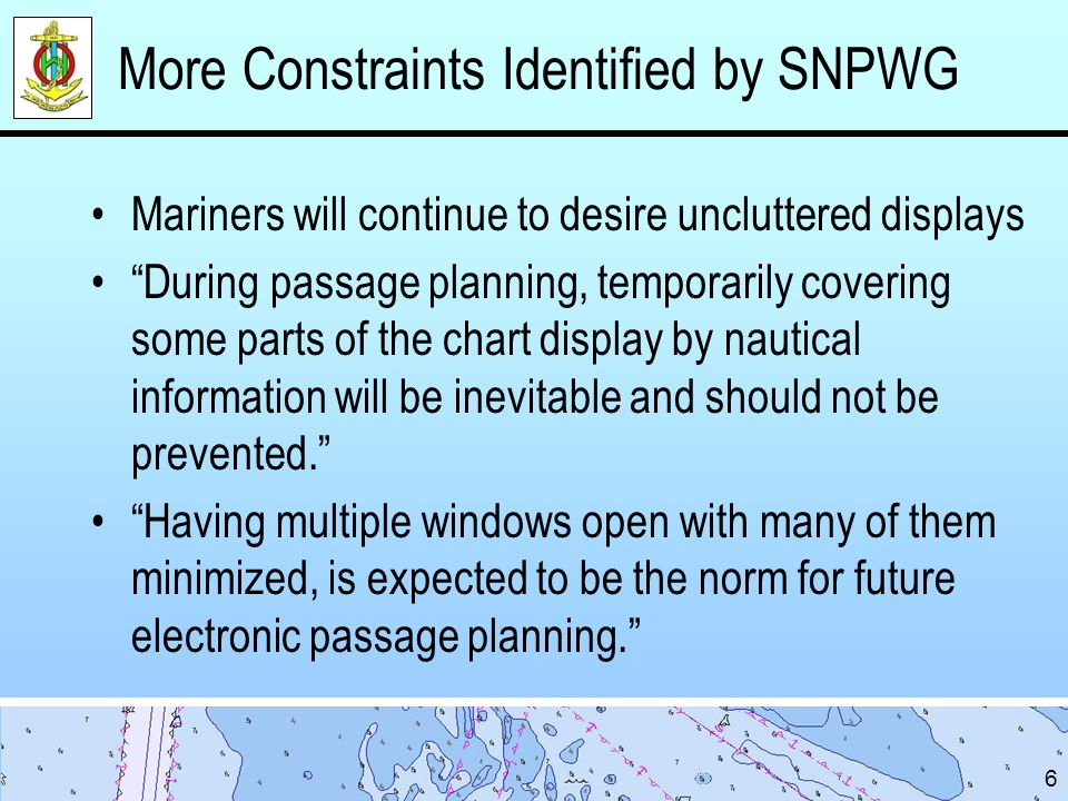 More Constraints Identified by SNPWG