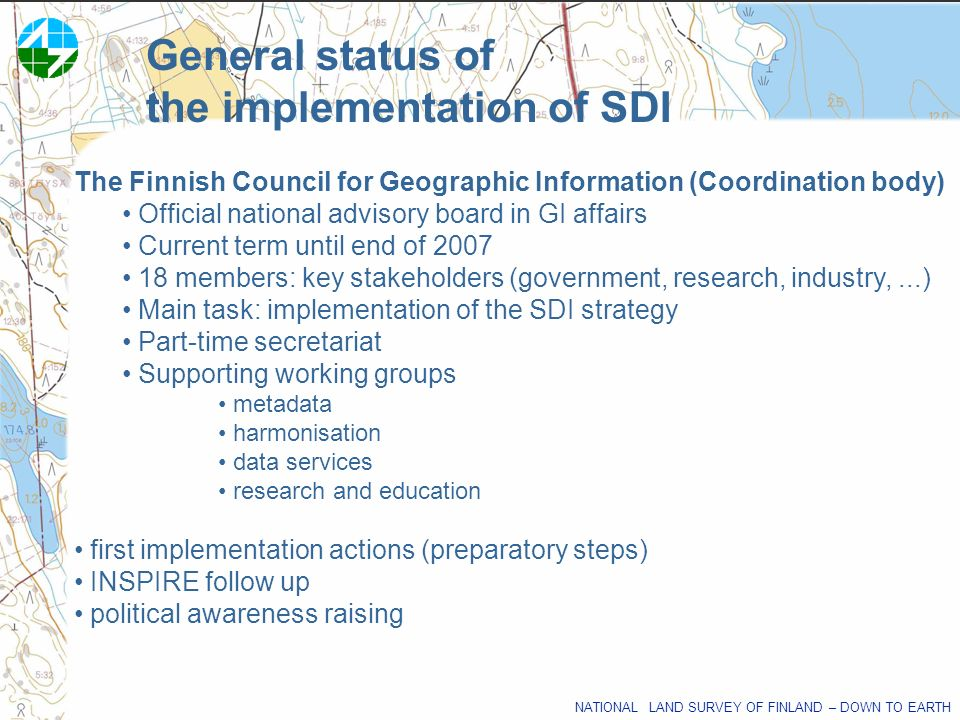 the implementation of SDI