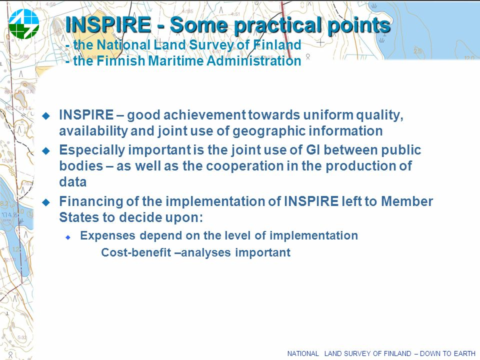 INSPIRE - Some practical points - the National Land Survey of Finland - the Finnish Maritime Administration