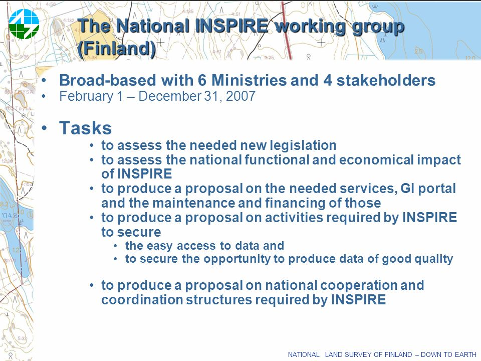 The National INSPIRE working group (Finland)