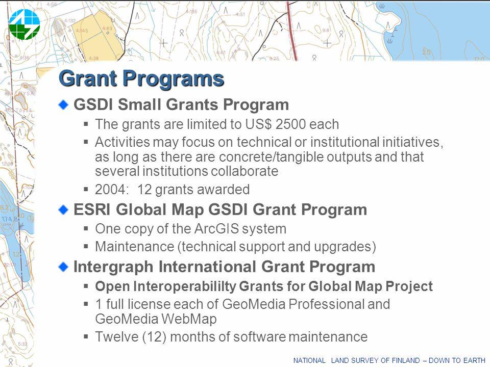 Grant Programs GSDI Small Grants Program