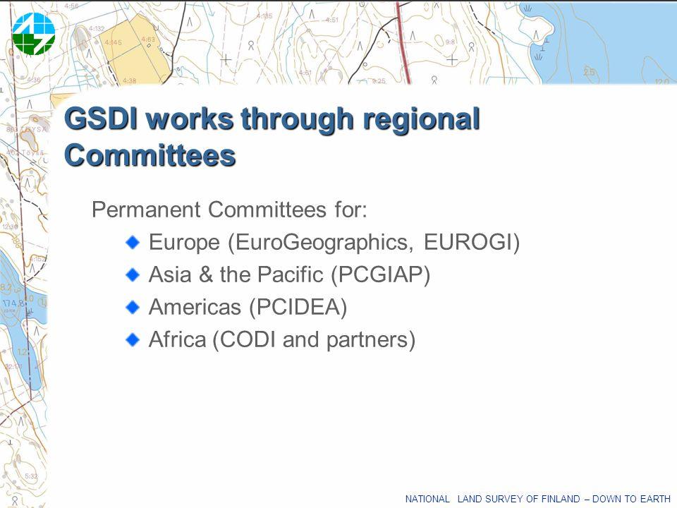 GSDI works through regional Committees