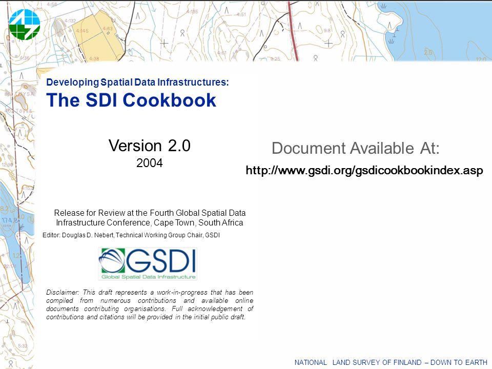 Editor: Douglas D. Nebert, Technical Working Group Chair, GSDI