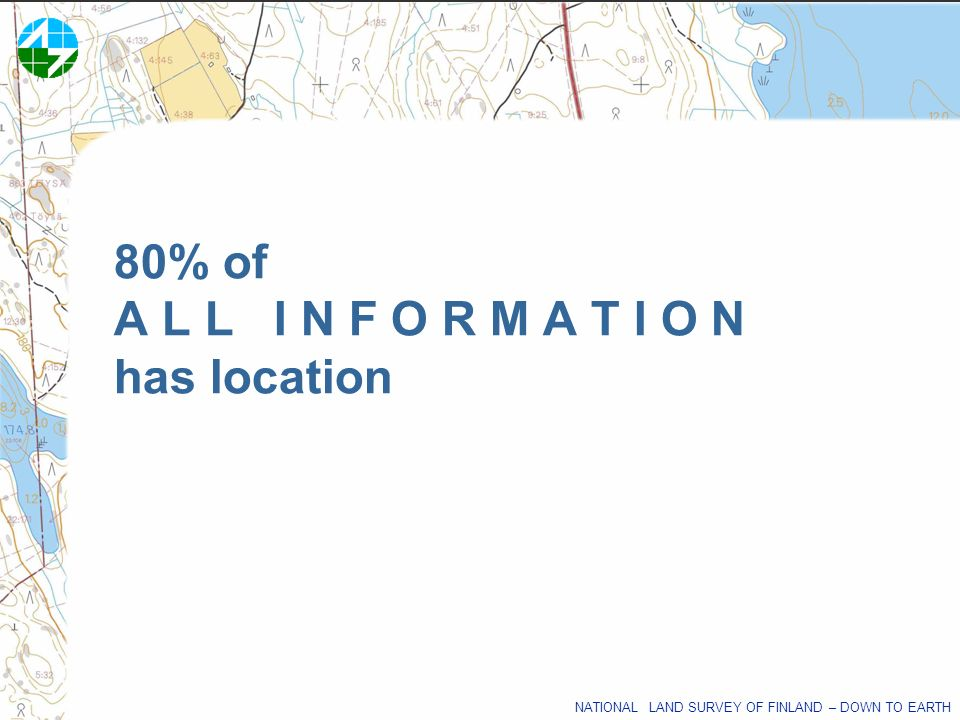 80% of A L L I N F O R M A T I O N has location