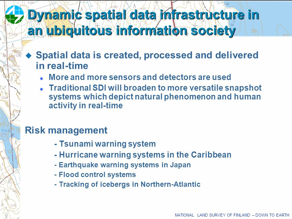 Dynamic spatial data infrastructure in an ubiquitous information society