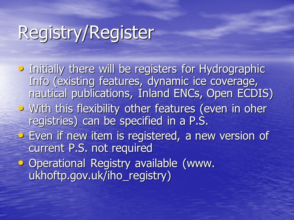 Registry/Register