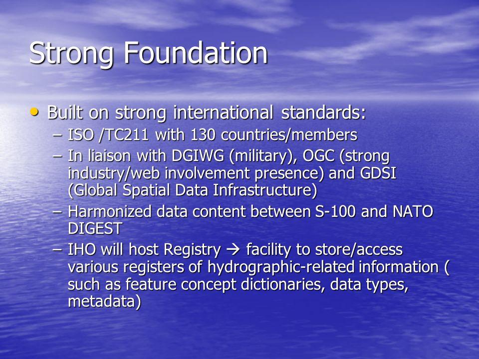 Strong Foundation Built on strong international standards:
