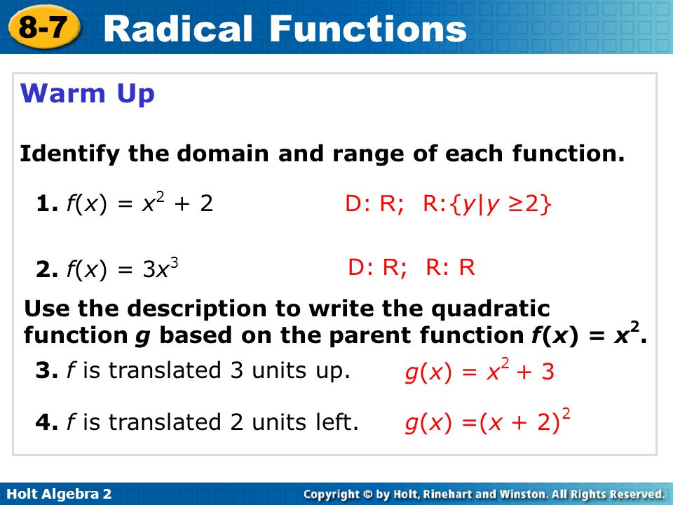 Warm up identify the domain and range of each function ppt warm up identify the domain and range of each function ccuart Image collections