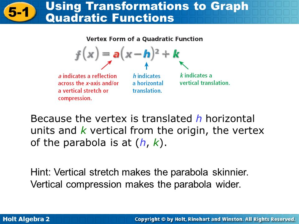 2.2 b Writing equations in vertex form - ppt download