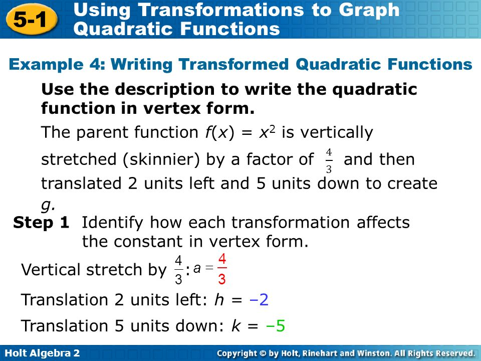 Benefits Of Writing A Quadratic Equation In Standard Form