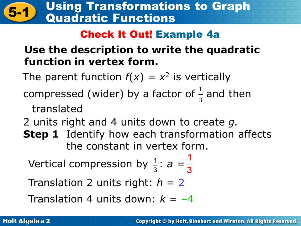 How To Write A Quadratic Function In Vertex Form Heartpulsar