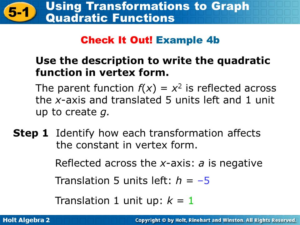 writing quadratic functions in standard form