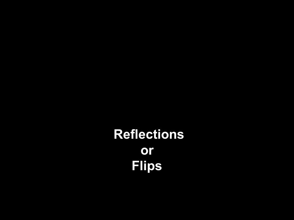 Reflections or Flips