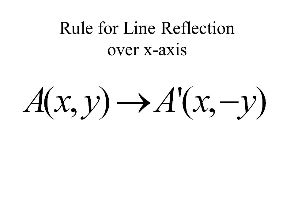Rule for Line Reflection over x-axis