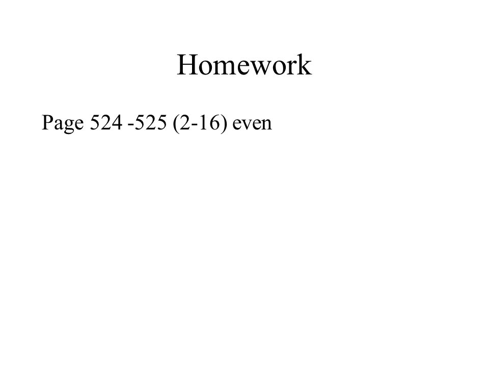 Homework Page (2-16) even