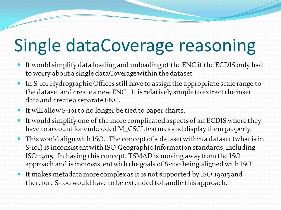 Single dataCoverage reasoning