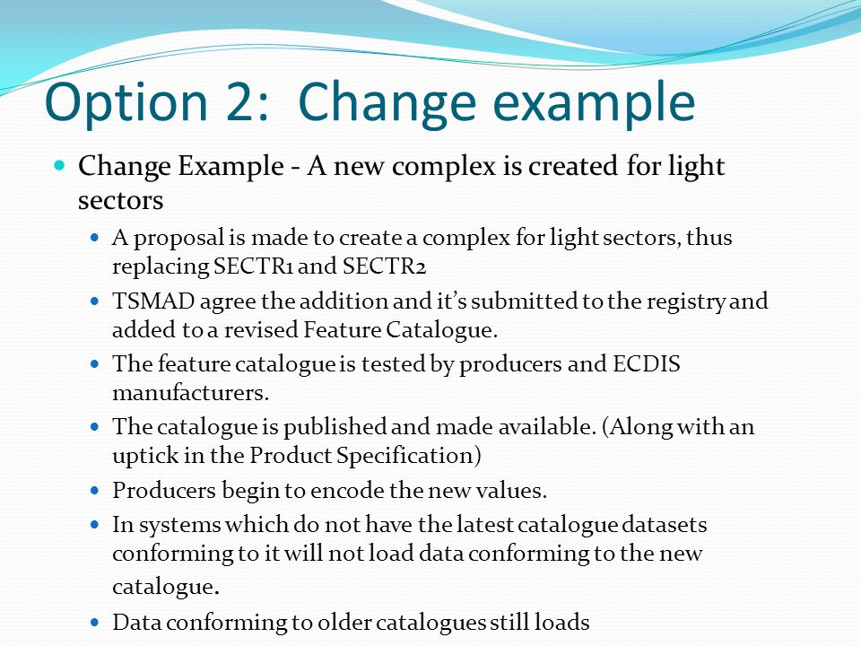 Option 2: Change example