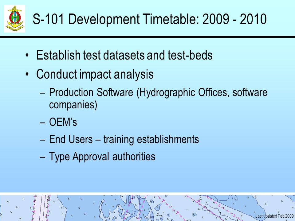 S-101 Development Timetable: 2009 - 2010