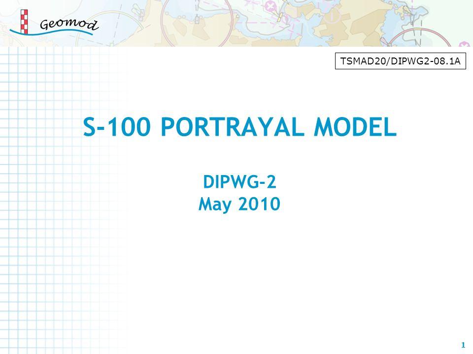 S-100 PORTRAYAL MODEL DIPWG-2 May 2010
