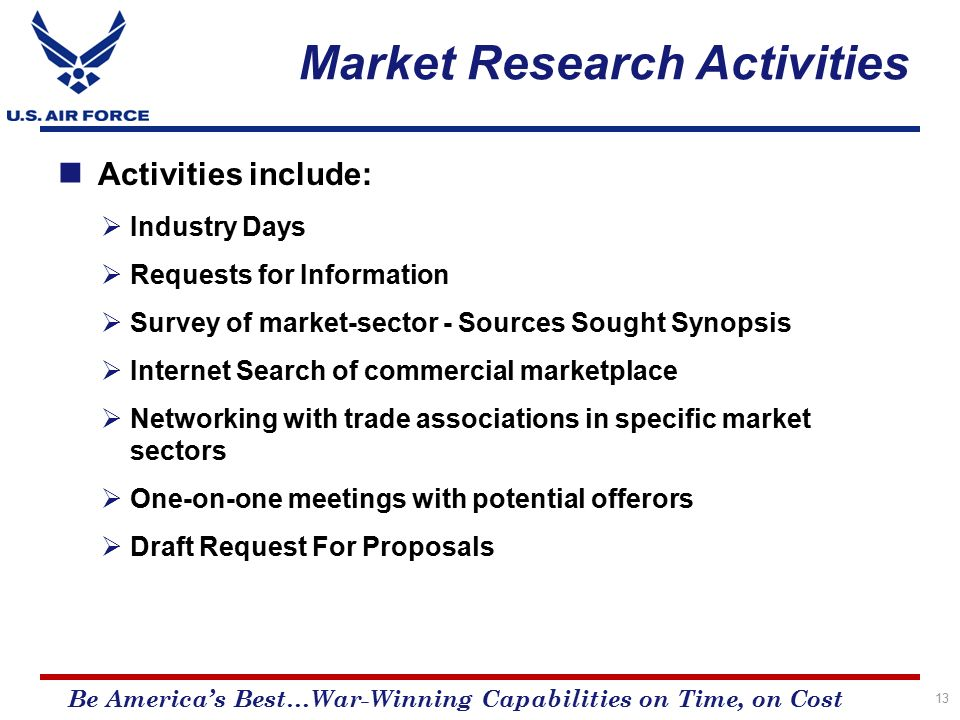 Market research activity