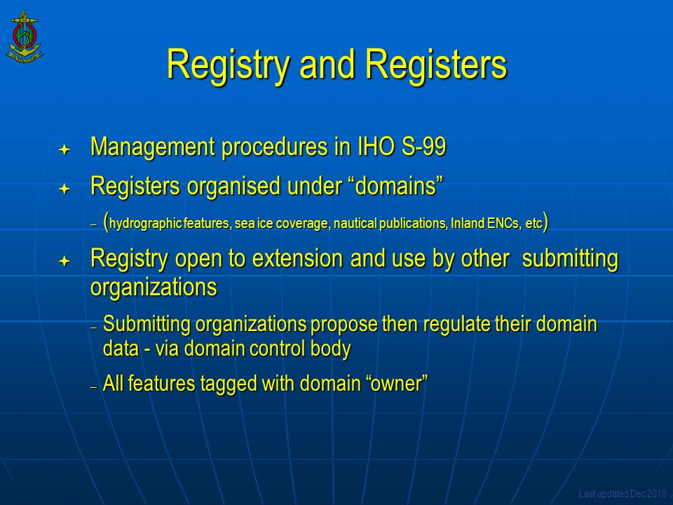 Registry and Registers
