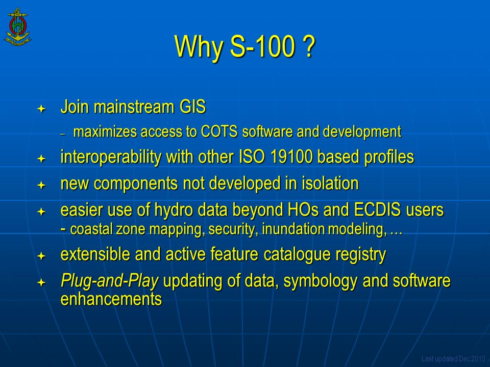 Why S-100 Join mainstream GIS