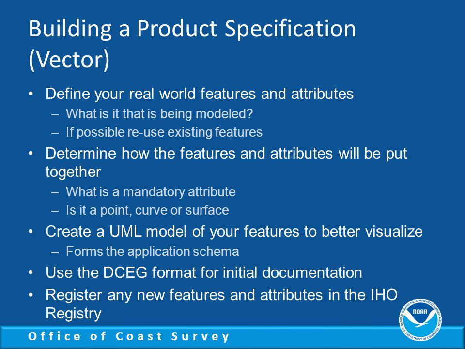 Building a Product Specification (Vector)