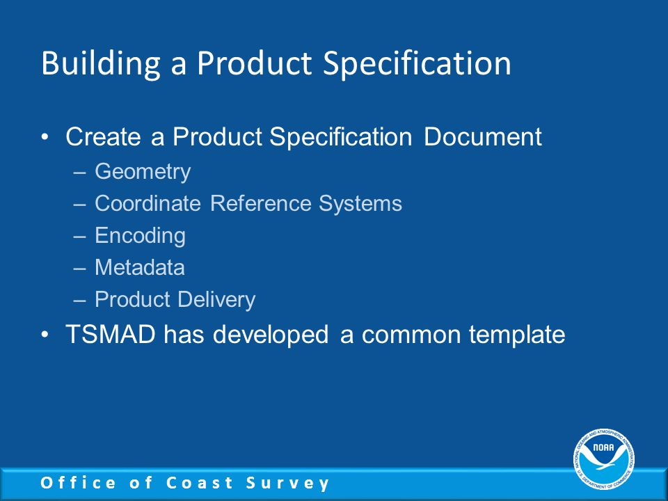 Building a Product Specification