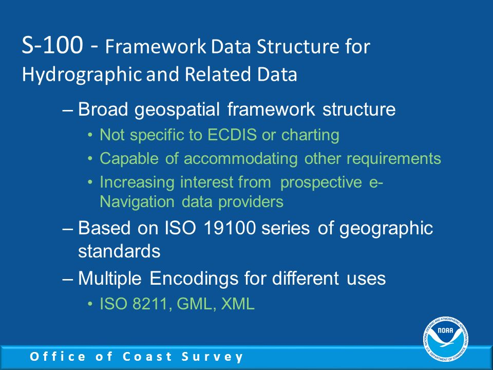 S-100 - Framework Data Structure for Hydrographic and Related Data