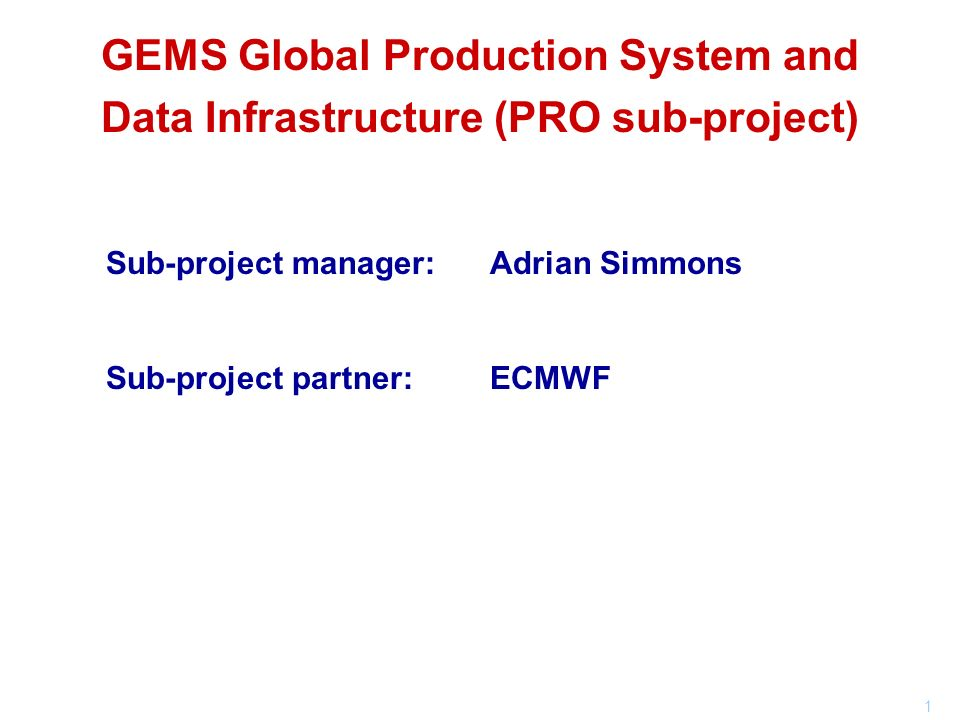 GEMS Global Production System and