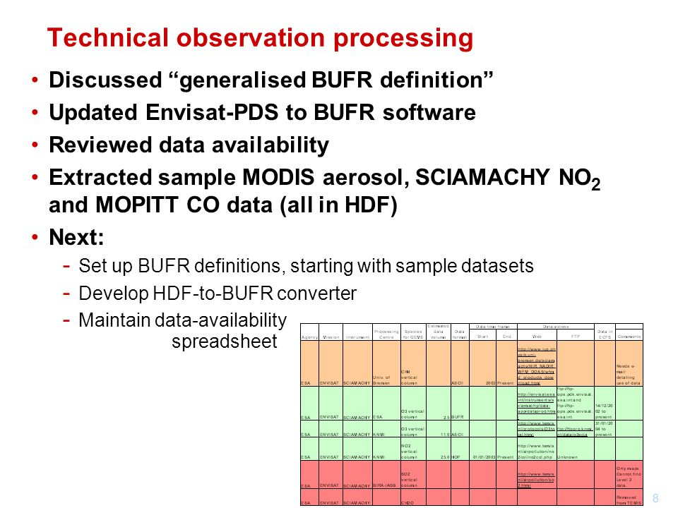Technical observation processing