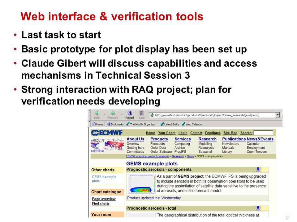 Web interface & verification tools