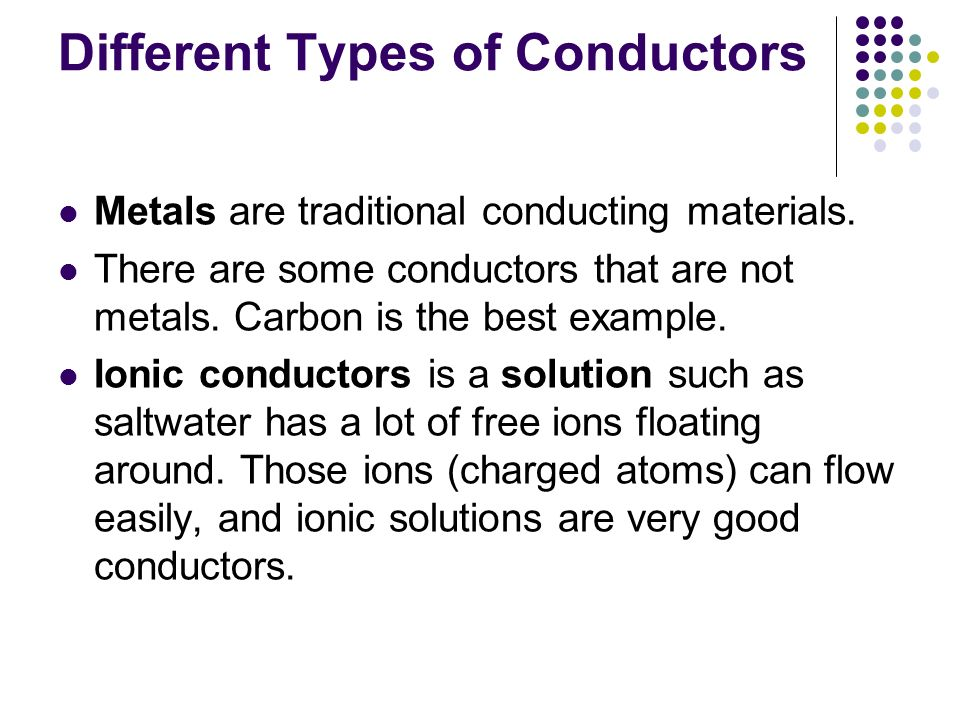 What Are Some Conductors : Ionic and covalent compounds ppt video online download