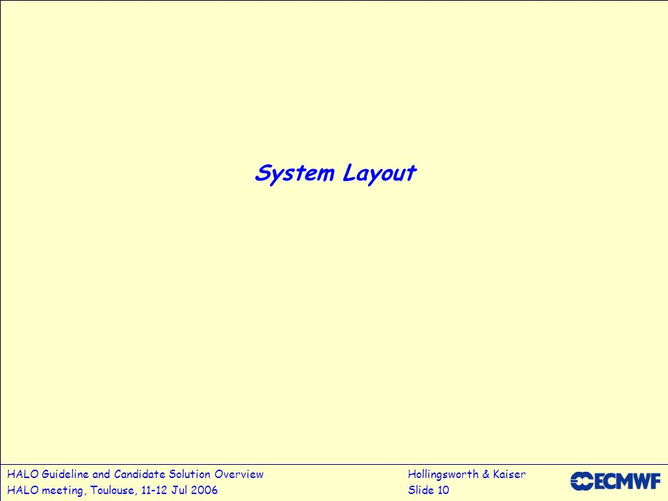 3/28/2017 System Layout