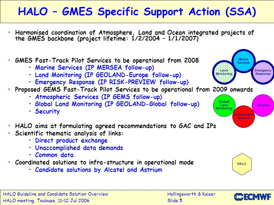 HALO – GMES Specific Support Action (SSA)