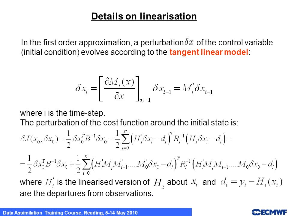 Details on linearisation