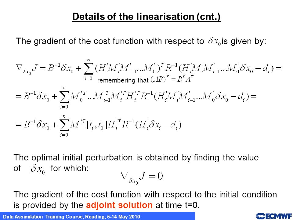 Details of the linearisation (cnt.)